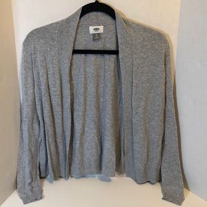 Lightweight Gray Open Front Cardigan